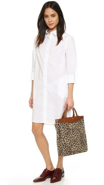FRAME Le Poplin Shirt Dress