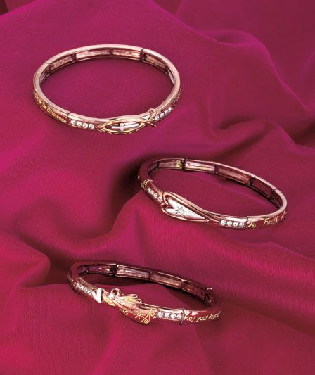 Inspirational Stretch Bracelets- beautiful in a Rose Gold color - great gift idea!