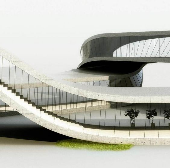 Detail. House built with a 3D printer. Rendering by Universe Architecture.