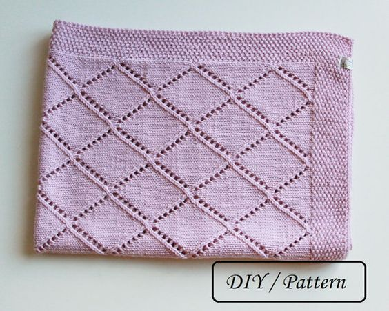 Free Knitting Pattern For Baby Blanket With Hearts : Knit baby blanket pattern / baby blanket pattern / baby blanket knitting patt...