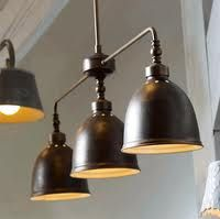 Image result for luminaire suspendu style industriel salle à dîner