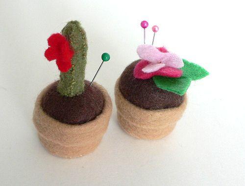Flower Pot Pincushions