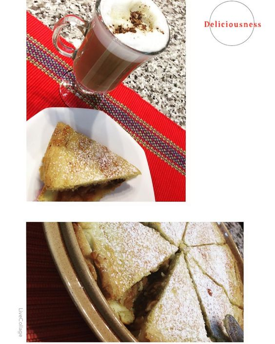 # #apple #rhubarb #pecan #pie #yummy #dessert #sweet #thankyou @timoranszky #huntsville #visit #friends