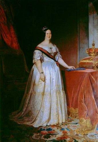 """A Monarquia Portuguesa 1826 - 1853 D. Maria II """"A Educadora"""" (4 Abril 1819 Rio de Janeiro-15 Novembro 1853 Lisboa) Casou com D. Fernando II de Saxe Coburgo-Gotha"""