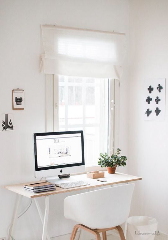 Dreamy Minimal Office Space Minimalist Home Decor Home Office Space Desks For Small Spaces