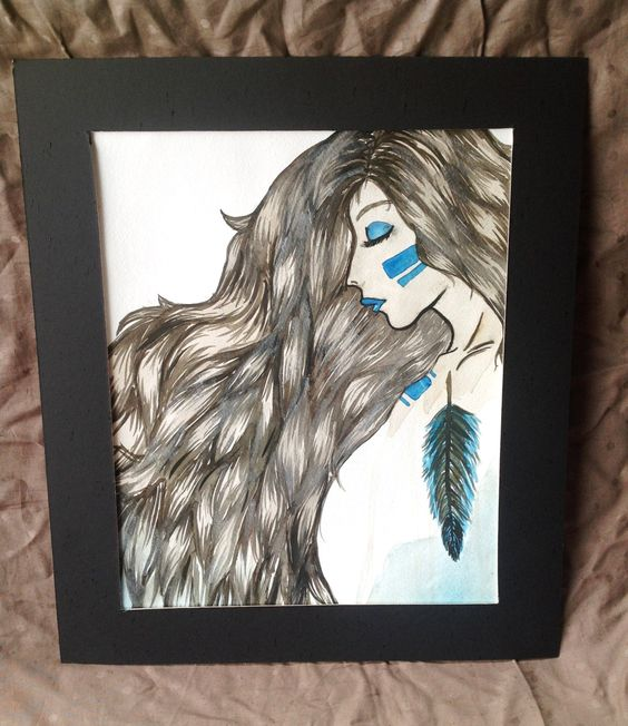 Indian+Inspired+Watercolor+Painting+by+KeytoSaraB+on+Etsy,+$25.00 my painting!!!