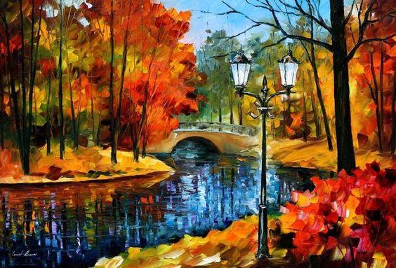 """Sublime Park"" by Leonid Afremov"