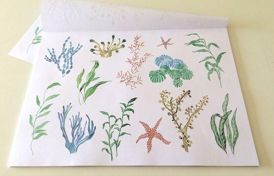 TÓNICA Blocks de individuales de papel a partir de ilustraciones hechas completamente a mano. http://charliechoices.com/tonica/