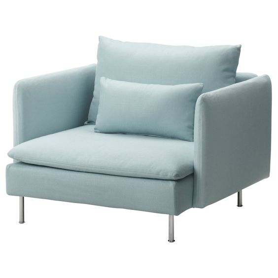 could buy it just for the color ! SÖDERHAMN Fauteuil - Isefall turquoise clair - IKEA