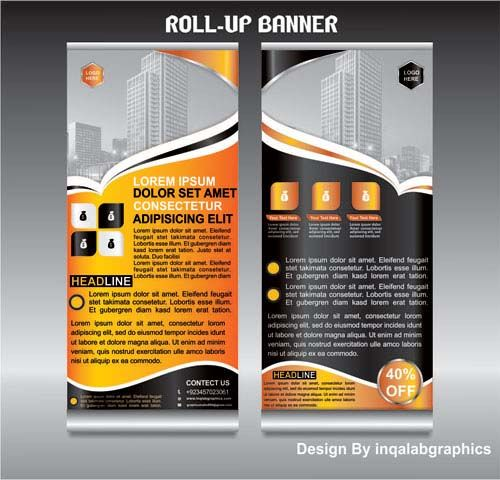 Retractable Banner Template Desain