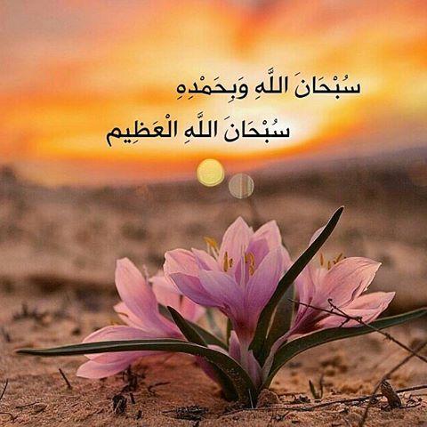 سبحان الله وبحمده سبحان الله العظيم Islamic Pictures Prayer For The Day Islam