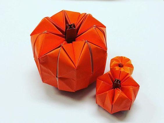 クリスマス 折り紙 折り紙 ハロウィン かぼちゃ : pinterest.com