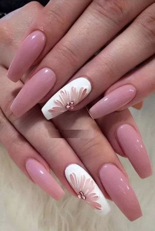 110 Crazy Gorgeous Nail Ideas For Coffin Shaped Nails 2 Recipeess Com Nail Art Summer Coffin Shape Nails Pink Nail Designs