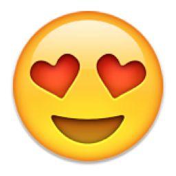 Smiling Face with Heart-Shaped Eyes Emoji (U+1F60D/U+E106)