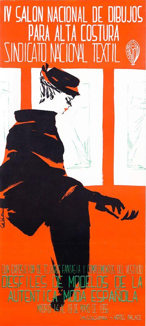 IV Salon Nacional de Dibujos para Alta Costura - Sindicato Nacional Textil - Desfiles de modelos de la autentica moda española - 1956 - (Celia) -