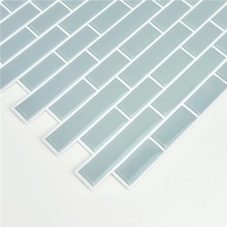 Nh2361 Sea Glass Peel And Stick Backsplash Tiles By In Home Peel Stick Backsplash Peel N Stick Backsplash Stick On Tiles