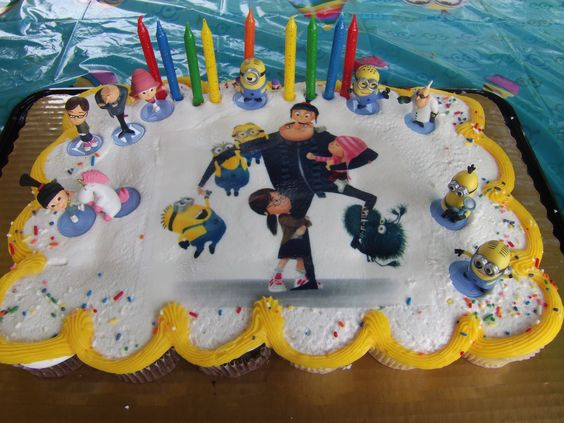 Despicable Me cupcake cake made by Krogers Book Wine and Time
