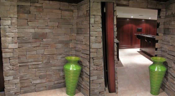 is that an unfinished basement? or is that a really cool rec room hidden behind a brick wall?!?!?!?  I love hiddenpassageway.com.  you need to check out their website-so many more cool hidden doorways!
