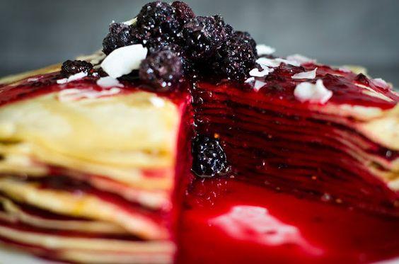 Brombeer Pfann-Kuchen