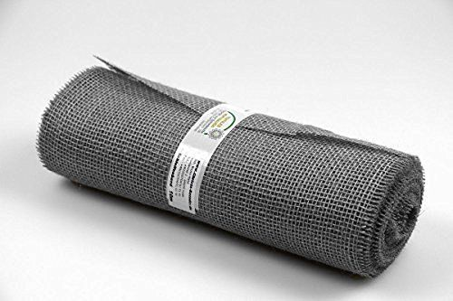 Christa-Bänder Tischband Jute 300mm ohne Draht Grau…