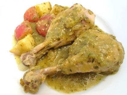 Chicken with tomatillo salsa recipe