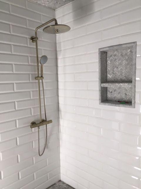 Subway Tile Project Bathroom White Beveled Subway Tile Beveled Subway Tile Bathroom Beveled Subway Tile