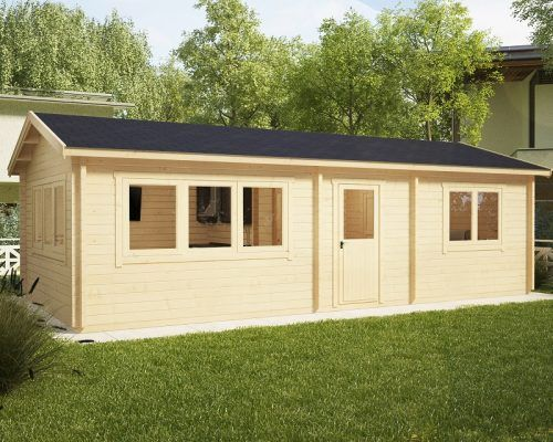 Blockhaus mit 1 Schlafzimmer Hansa Holiday H 40m2 Shtëpi druri - outdoor küche holz