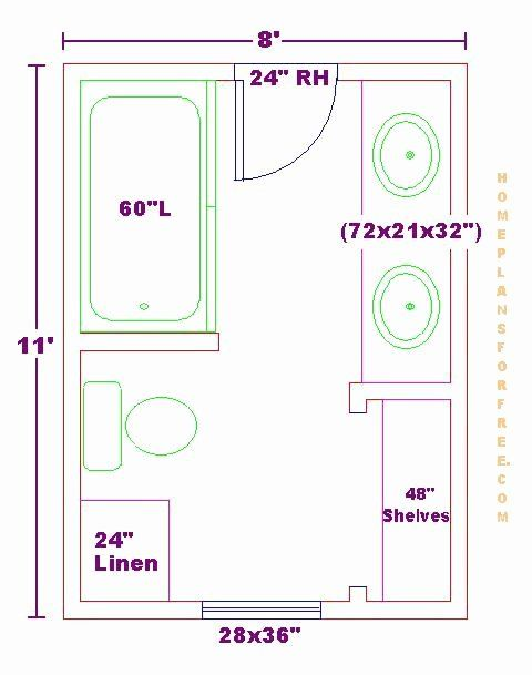 Free Bathroom Planner Tool Fresh Modify This One 8x11 Bathroom Floor Plan With Double Bowl In 2020 Bathroom Layout Plans Small Bathroom Floor Plans Bathroom Plans
