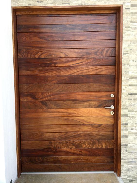 Puerta principal en madera d parota huanacaxtle http for Puerta corrediza de madera