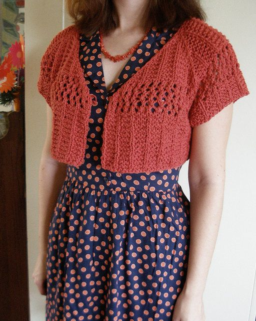 Free Crochet Pattern For Short Cardigan : Free Knitting Pattern - Womens Short Sleeve Knits ...