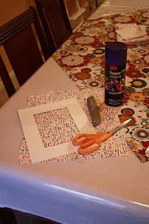 Delightful Distractions: DIY Fabric Covered Picture Matting.