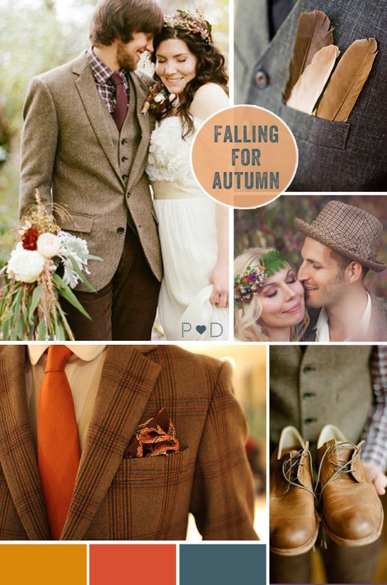 Autumn, Autumnal, Fall, Falling for Autumnal, bride, groom, bridal look, bridal look book, bride with cardigan, groom look, groom styling, tweed suit (1)