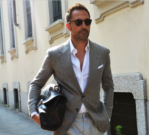 Grey Blazer And White Shirt Timeless Fashion For Men