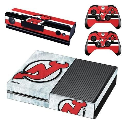 New Jersey Devils Xbox One Skin Decal For Console And 2 Controllers Xbox One Skin Xbox One New Jersey Devils