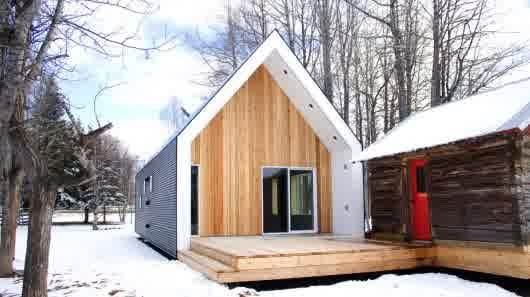 Architecture, Awesome Compact Homes With Incredible Exterior Dark White Wooden Combination And Compress Interior: Super Functional Compact Homes
