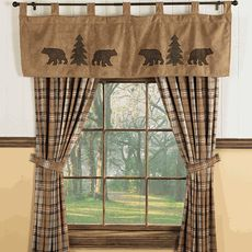 Bear & Trees Wildlife Window Treatments