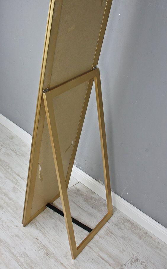 elbmöbel.de - Espejo de pie (180 x 45 cm, tamaño grande), diseño barroco, color dorado: Amazon.es: Hogar