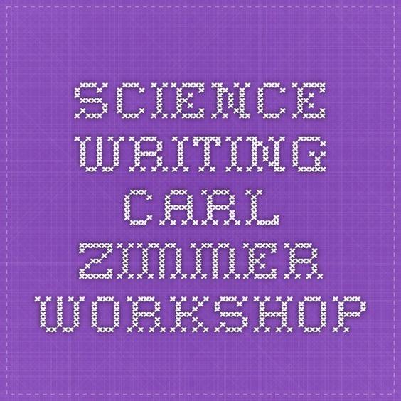 science writing carl zimmer workshop