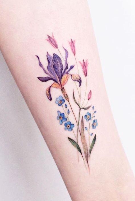 Lena Fedchenko Flower Tattoo With Images Tattoos Iris Tattoo