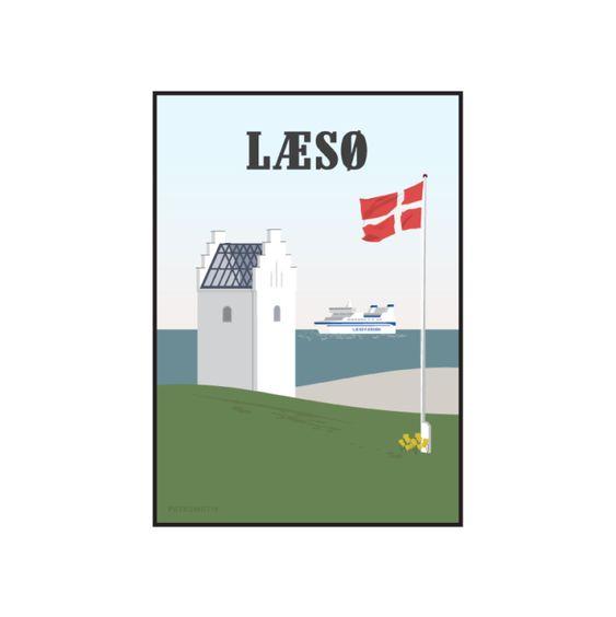Laeso Kur Og Laeso Faergen Plakat Fra Petkomotiv Plakater Baggrund Faerge