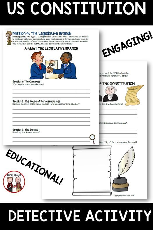 Constitution Detectives Us Constitution Activity Constitution Activities School Activities Classroom Management Activities Number chart worksheets us constitution