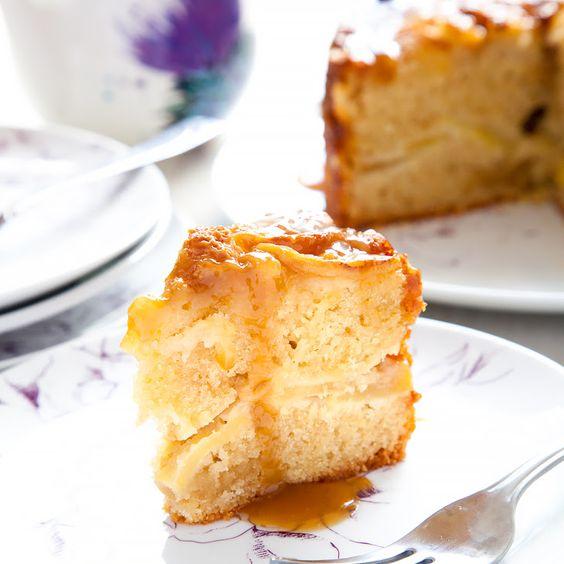 Sophie Thompson's toffee apple cake
