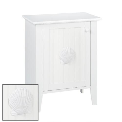One Of My Favorite Discoveries At Christmastreeshops Com Coastal White Shell 1 Door Accent Cabinet Accent Doors Coastal White Accent Cabinet
