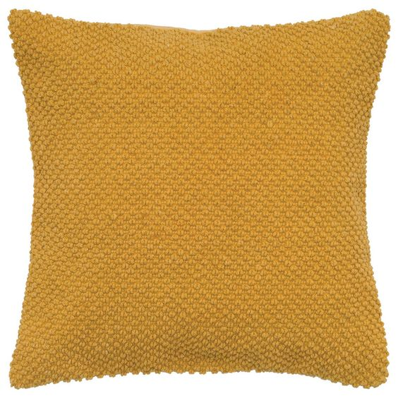 Solid Cotton Stitch Accent Pillow Cover (Gold) (T05279)