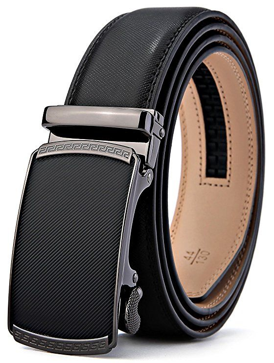 Men/'s Belt,Bulliant Genuine Leather Ratchet Belt for Men with Slide Buckle 1...