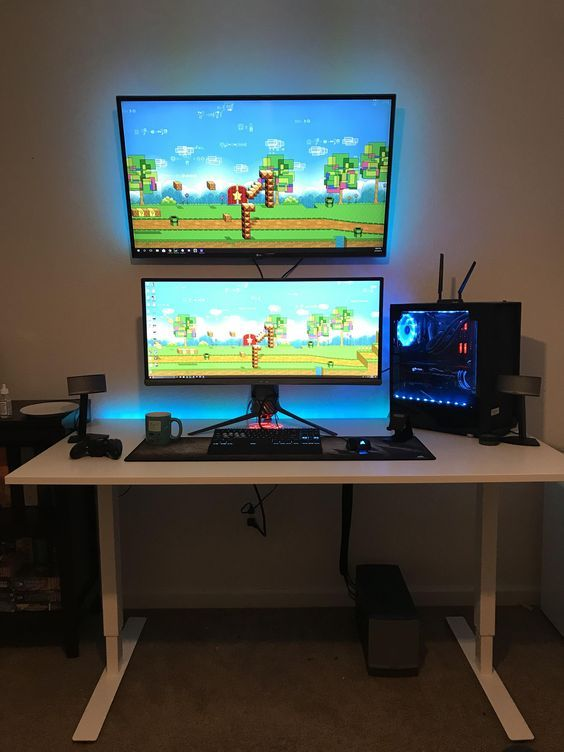 Video Game Room Ideas For Game Lovers Diy Funny Setup Gaming Desk Boys Organization Video Game Rooms Game Room Decor Game Room Design