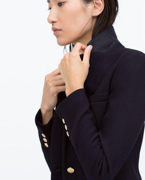 blazer femme bleu marine zara
