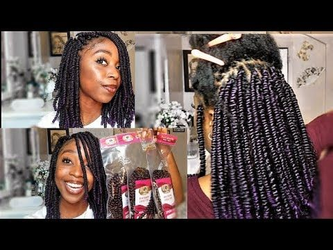 Spring Twist Hair Tutorial On Natural Hair Crochet And Rubber