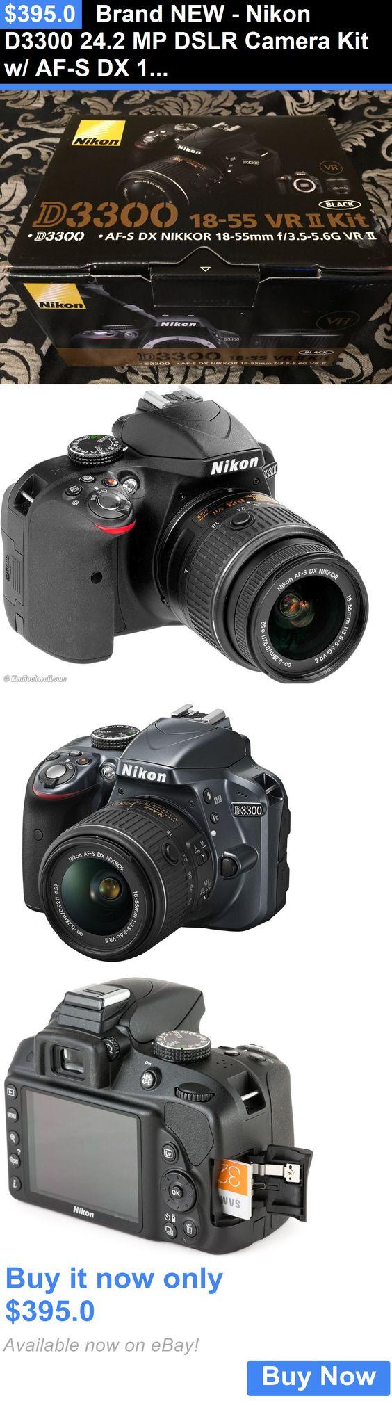 Camera Photo Brand New Nikon D3300 242 Mp Dslr Kit W Af 18 55mm Vr Ii