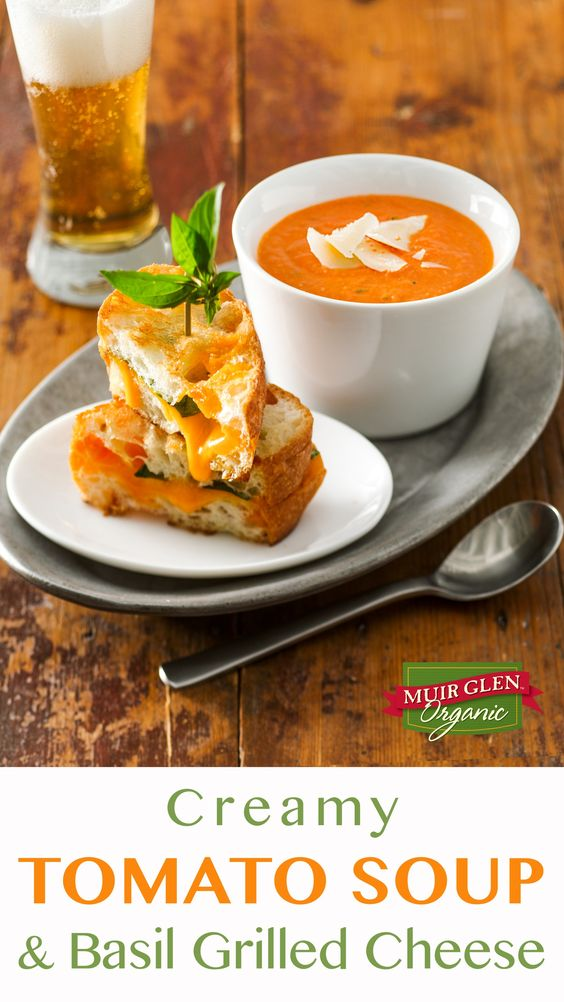 tomato soups tomatoes basil grilled cheeses comfort foods recipe lunch ...